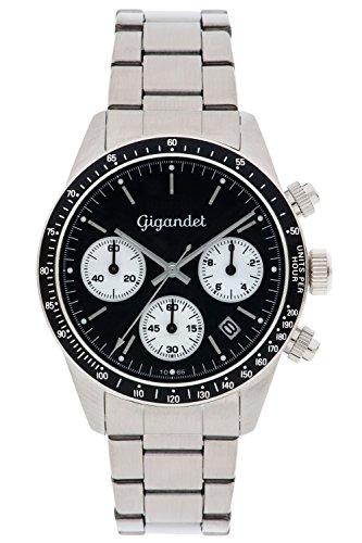 Gigandet Race King Men's Analogue Chronograph Quartz Watch Black Silver G5-006