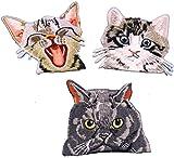 i-Patch Patches - 0057 - Katze - Katzen - Katzenkopf - Cat - Aufbügler - Flicken - Aufnäher - Sticker - Badges - Flicken - Bügelbild - DIY - Aufbügler - Iron-on - Applikation - zum aufbügeln