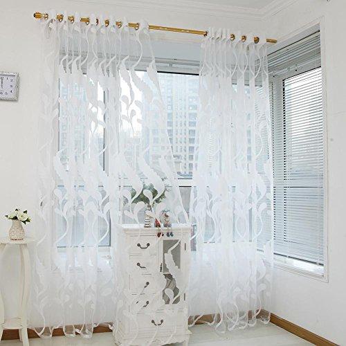 La Cabina Rideau Voilage pour Fenêtre Oreiller Floral Rideau de Blé Simple Rideau de Porte 2m/78.74'