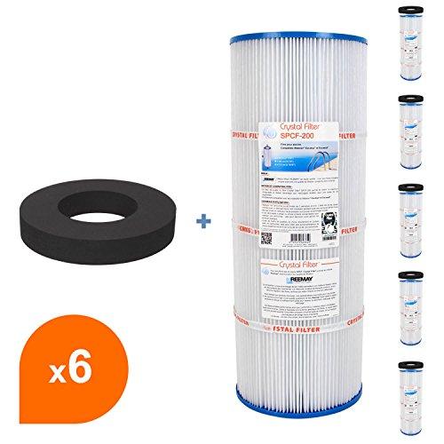 Filtre et joint SPCF-200 - Compatible Waterair® Escawat® - Crystal Filter® (lot de 6)
