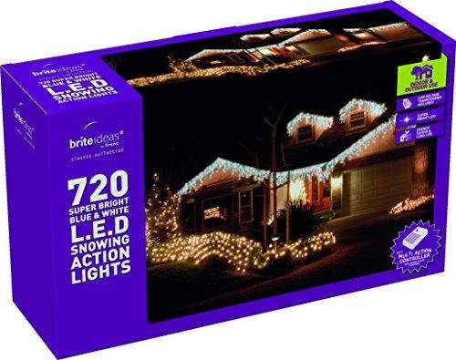 Filo di luci a LED Brite Ideas con lampadine a forma di ghiacciolo da 24 (Blu Icicle)
