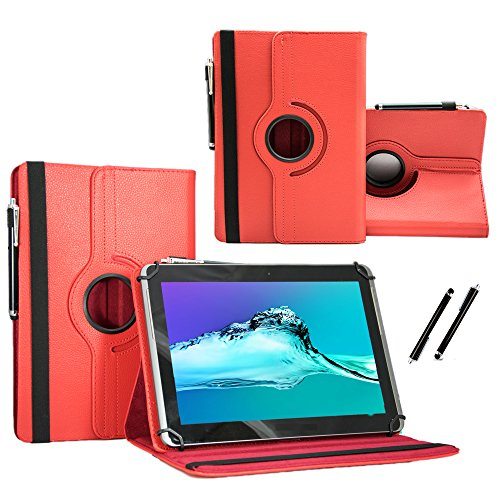 Medion Lifetab S8311 (MD 98983) - Tablet Case Schutzhülle mit Touch Pen und Standfunktion - 360° Rot 8 Zoll
