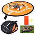 "Drone Landing Pad DJI, Taotree Helipad for RC Drones Helicopter DJI Mavic Pro and RC Phantom 2/3/4/4 Pro, 32"" (80cm) (Drones Not Included) (Landing Pad)"