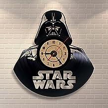 Disco de vinilo del reloj Star Wars dormitorio decoración de la pared