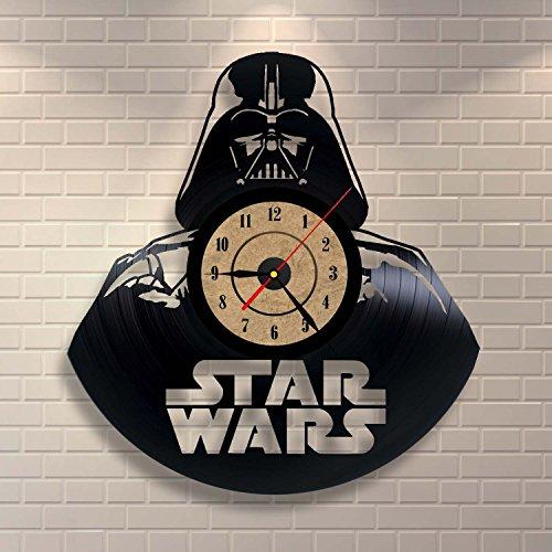 Perfekt Vinyl Record Clock Star Wars Schlafzimmer Wand Dekor (Haushaltswaren)