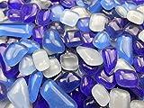Happy-Mosaic Mosaiksteine Polygonal 1000g Blau Mix Glastropfen lose Steine zum Basteln