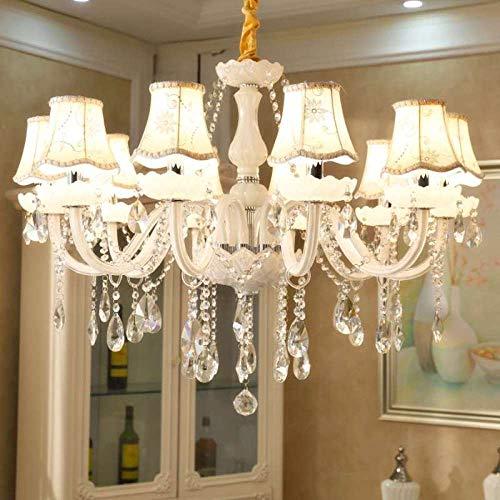 White Princess Chandelier Lighting Habitación De
