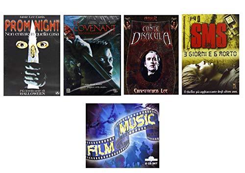 Offerta Speciale 4 DVD Horror, Prom Night, Il Conte Dracula, The Covenant, SMS 3 Giorni e 6 Morto + 2 CD Le Più Famose Colonne Sonore