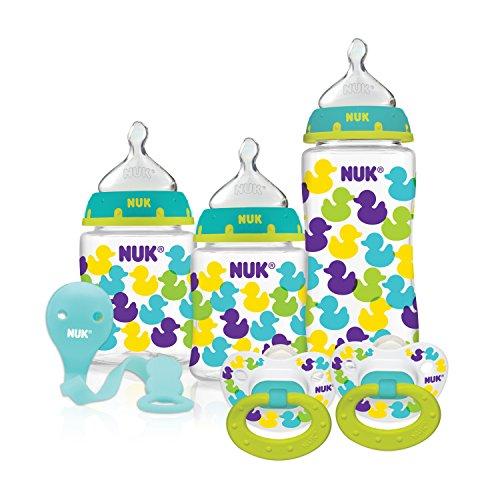 NUK/Gerber - Starter Bottle Set, Babyflaschen-Set & Schnuller Pink - aus den USA