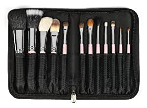 Sedona Lace Travel 12 Piece Professional Makeup Brushes - Pink by Sedona Lace