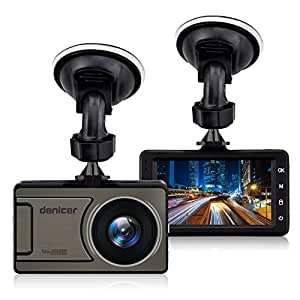 Denicer D710 Car Dash Cam, Full HD 1080P/720P Dashboard Camera Recorder 170 Degree Wide Angle Vehicle Video Driving Recorder 3-Inch Screen DVR With Metal Shell, WDR, G-sensor, Loop recording