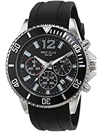 Mike Ellis New York Herren-Armbanduhr RaceTime Analog Quarz Silikon SM2907