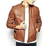 Syedna Men's Leather Jacket (SWLG36 _Tan...