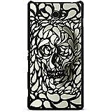 Sony Xperia M2 Aqua Hülle Schutz Hard Case Cover Deep Skull Totenkopf Schädel