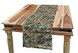 ABAKUHAUS marokkanisch Tischläufer, Orientalische Ethno-Motive, Esszimmer Küche Rechteckiger Dekorativer Tischläufer, 40 x 225 cm, Mehrfarbig