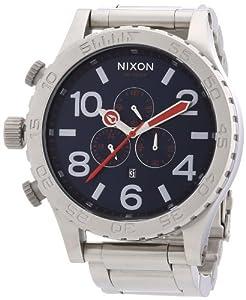Reloj Nixon A083307-00 de cuarzo para hombre con correa de acero inoxidable, color plateado de Nixon