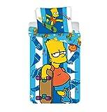 Jerry Fabrics Die Simpsons CharacterKinderBettwäsche mit ReißverschlussBettbezug 140 x 200 cm und Kissenbezug 70 x 90 cm, Baumwolle, Multicolored, 200 x 140 x 0.5 cm