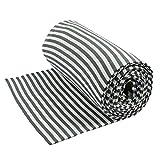 Bündchen Streifen grau weiß Bündchen Stoff Schlauchware - Preis gilt für 0,5 Meter