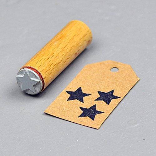 Simplydeko Motivstempel in 15mm   Viele Bastelstempel und Stamps-Motive   Wunderschöne Stempel (Stern)
