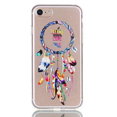 [ 3 Pack ] iPhone 7 Hülle, BENKER Kreativ Anti-Kratz Nicht Verblassen 3D Relief Malerei TPU Silikon Telefon Fall - SET 2 SET 1