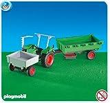 Tractor met aanhangwagen