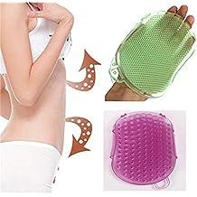 ungfu Mall baño cepillo masajeador de silicona anti celulitis masaje Exfoliater pinceles cuerpo guante exfoliante