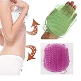 1PC Bath Brush Massager Silicon Anti Cellulite Massage Exfoliater Brushes Body Glove Scrub