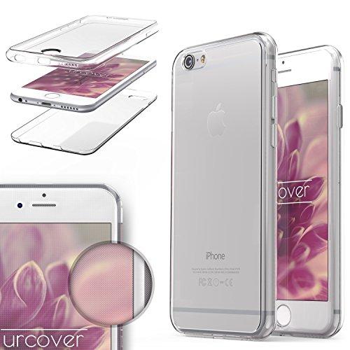 URCOVER® Housse Coque Tactile 360 degrés édition | Apple iPhone 6 Plus / 6s Plus | Silicone TPU rose | Transparent Doux Protection Écran Étui Double-Couche Ultra-mince net