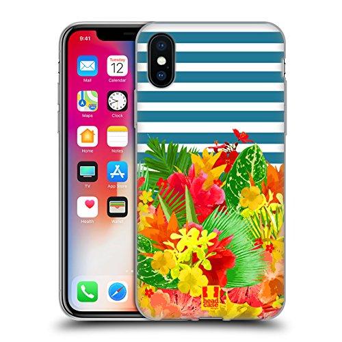 Head Case Designs Pattern Margherite Strisce Floreali Fashion Cover Morbida In Gel Per Apple iPhone 7 Plus / 8 Plus Pattern Tropicale