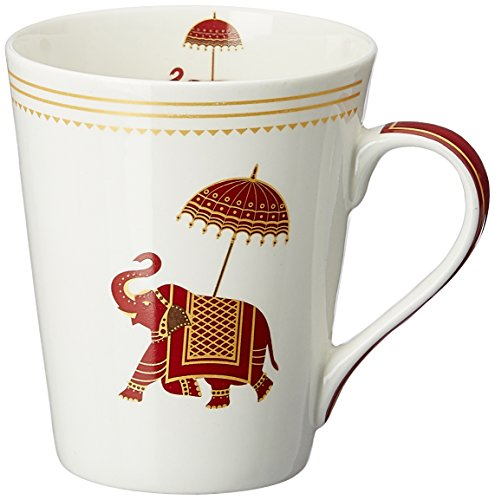 Sanjeev Kapoor Utsav Bone China Milk Mug, 350ml/6cm, Multicolour