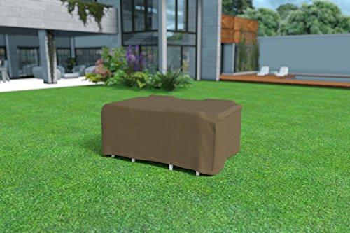 Il fonde table rectangular impermeable couleur marron clair 205x105x70cm