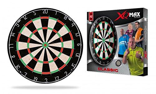 XQMAX Bristle Dartboard Classic, Schwarz/Rot/Grün/Beige, One size