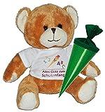 Teddy Bär mit Schultüte - 18 cm zum Befüllen für