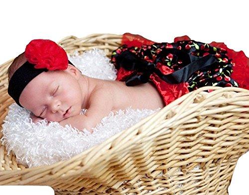 Red Black Cherry Baby Skirt Tutu Dress Girl Clothing 3-12m (Cherry Girl Kostüme)