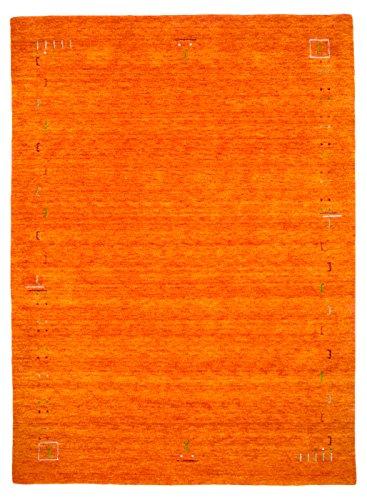 Morgenland Designer Gabbeh Teppich FENTH 140 x 70 cm Brücke Orange Einfarbig Modern Handgearbeitet 100{25085d0953efd0e68da8ea774ffca6e83eb659b1a206f99ce4225e3cc765d4a6} Schurwolle Weich Bordüre Loribaft Optik Für Wohnzimmer Esszimmer Flur Küche - In 6 versch. Farben, Viele Größen