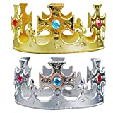 BESTOYARD Geburtstagsparty Hüte Prinz Crown Hüte Kinder Tiara Party Favors Supplies Halloween Cosplay Kostüm Zubehör 2 STÜCKE (Kreuz)