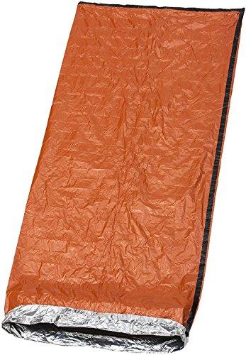 Bramble Notfall Biwak-Sack - Survival Schlafsack – Kälteschutz – Bushcraft – thermo-Isolierung leuchtend orange Außenseite, reflektierende Innenseite