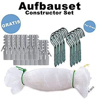 NEEZ Filet de Chat 3x8, 3x6, 3x8 mètres pour Le Balcon Filet de Protection Transparent pour Le Filet Pigeon Net (3x6m)