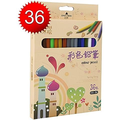 Lapices de Colores Kasimir 36 Lapices Colorear Fijaron con Colores Para Art Major Dibujo Niños Pintura Suministros de Oficina Escuela Adulto para Colorear
