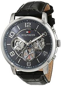 Reloj para hombre Tommy Hilfiger 1791289, mecanismo de cuarzo, diseño con varias esferas, correa de piel. de Tommy Hilfiger