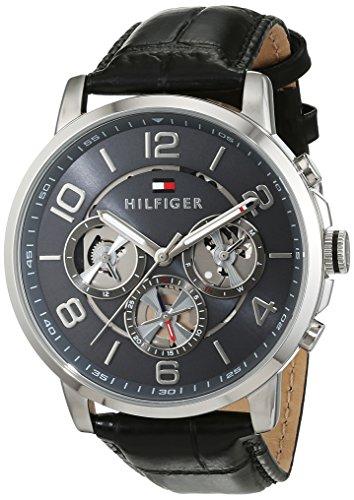 Tommy Hilfiger Herren Analog Quarz Uhr mit Leder Armband 1791289