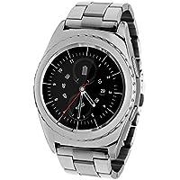 Jiazy Smartwatch Bluetooth con bracciale cardiofrequenzimetro / smart del braccialetto di salute Sport / lungo tempo di stand / SIM TF smart watch / Supporto messaggio di notifica per Antroid Sumsung HUAWEI (argento Acciaio Stripe)