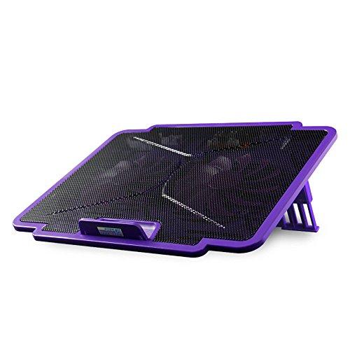 Cooling Pads LDFN Laptop Kühlkörper Basislüfter 15,6 Zoll Tragbare Ultra-Slim 2 Ruhig Fans Laptop Einstellbarer Höhe und Geschwindigkeit,Black (Tragbare Ruhige Fans)