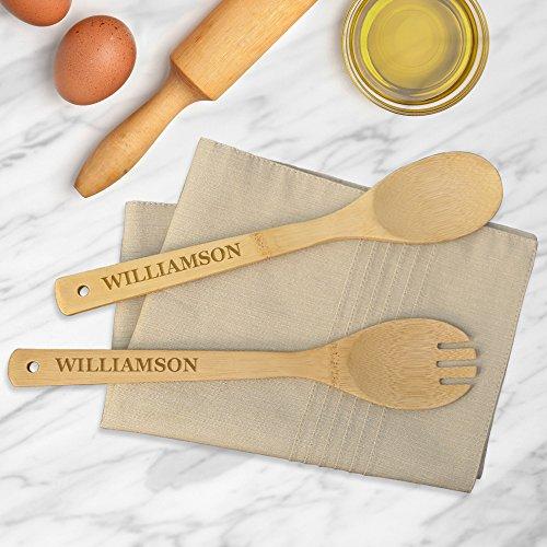 personnalisé Direct personnalisés Williamson Cuillère à salade en bambou et Spork Ensemble