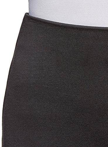 oodji Collection Damen Jersey-Rock mit Schlitz Grau (2500N)