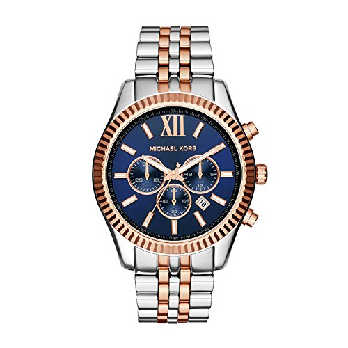 Michael Kors Herren Chronograph Quarz Uhr mit Edelstahl Armband MK8412