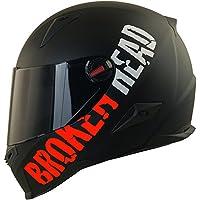 Broken Head BeProud rot Ltd.   Motorradhelm inkl. schwarzem Visier - schwarz-matt (M (57-58 cm))
