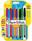 Papermate InkJoy 100 CAP 1.0 mm Medium Tip Capped Ball Pen - Assorted Fun Colours (Pack of 8 Plus 2)
