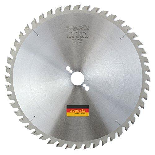 Augusta 053153048-Robusto multiusos metal de sierra circular 315x 3, 0x 30con 48dientes para de Mano, de inglete, tronzadora y sierra circular de mesa fabricado en Alemania, 0W, 0V, Gris