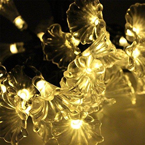 6M 30 LED Solar LED Lichterkette mit Multicolor Wassertropfen für Weihnachten, Terrasse, Rasen, Zaun, Outdoor, perfekte Inneneinrichtungen, Outdoor, Weihnachtsbaum, Einkaufszentrum, Urlaub & Festival Celebration (30 Bälle-weiß-heiß)